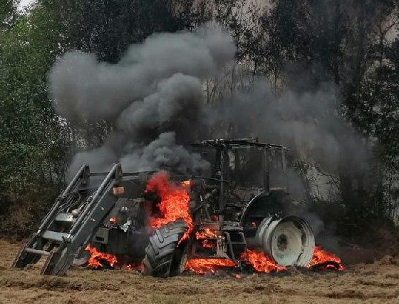 Incendio tractor