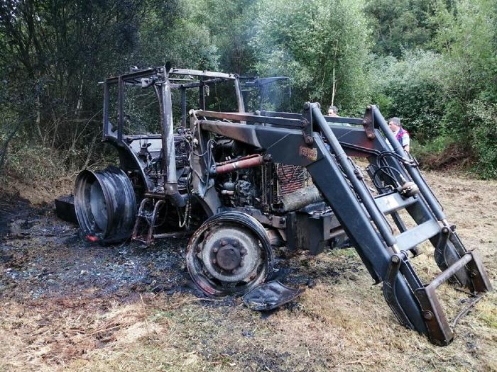 Tractor queimado